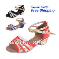 Latin square women's dance shoes dance shoes jazz shoes soft outsole female child dance shoes 209