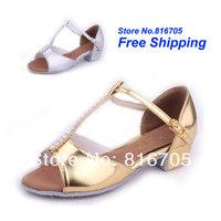 Latin square women's dance shoes dance shoes jazz shoes soft outsole female child dance shoes 201