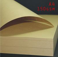 FREE SHIPPING 100 PCs/Lot Brown Kraft Paper A4 150gsm Gift Wrapping Paper Craft Paper Printing Paper