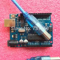 UNO R3(with LOGO) MEGA328P ATMEGA16U2 10set=10 pcs board + 10 pcs usb cable Free shipping