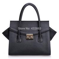 Bags Handbags Women Famous Brands Women Leather Handbags Genuine Black Free Shipping B-199
