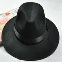 1PC Men Women Summer Beach Trilby Gangster Cap Classic Sun Hats Dance Cap Fedoras Free Shipping CX654625