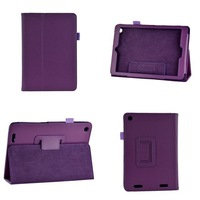 Lichee Pattern Folio Stand PU Leather Case Cover For Acer iconia A1-830 7.9 inch  Protective Skin Shell Free Shipping 100pcs/lot