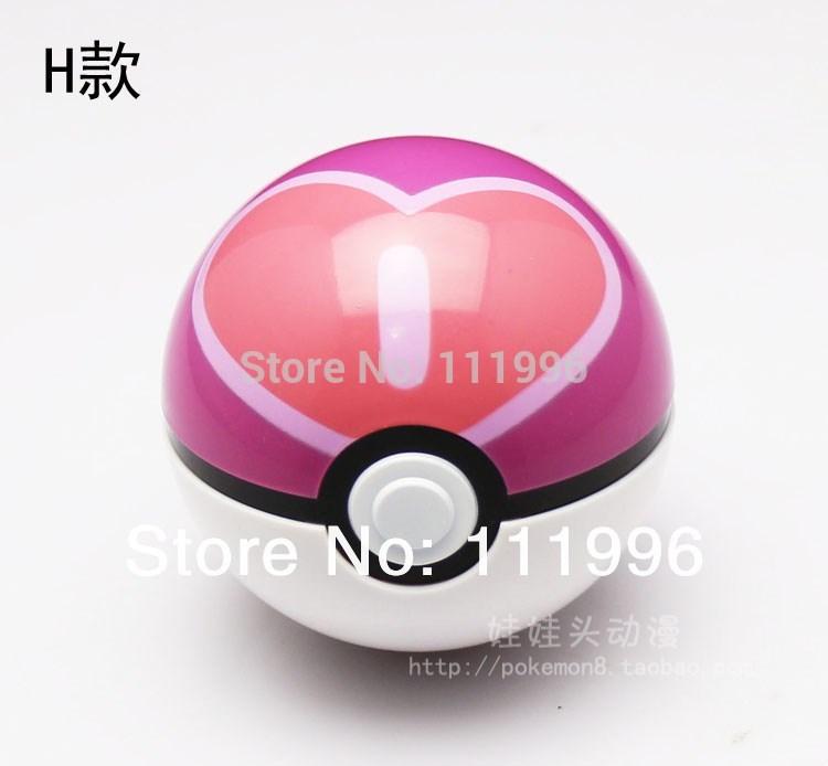 Fashion Cute Pokemon Pokeball Pop Up Plastic Ball Pokemon Pikachu Poke Love Ball Game Toy Free Gift Pikachu Free Shipping(China (Mainland))