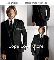formal Brand Men Business Suits Fashion Formal Suit Dress Tuxdeo One Button Jacket+Pants+tie mens suits with pants