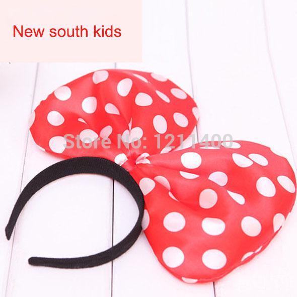 2014 New fashion big bowknot girls kids headband headwear children baby hair accessories free shipping(China (Mai