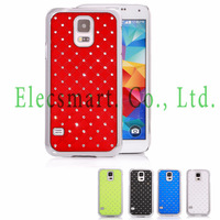Free Shipping Sparkle Diamond Studded Rhinestone Bling Chrome Protective Hard Case Cover for Samsung Galaxy S5 SV