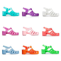 2014 New Summer Womens Sandals Designer Wedge Rain Boots Gladiator Beach Melissa Jelly Sandals JUJU Shoes 11 colors