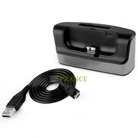 Dual Slot Powered Charging Dock Station Dual USB Cradle Desktop Charger For Samsung Galaxy S5 Free Shipping