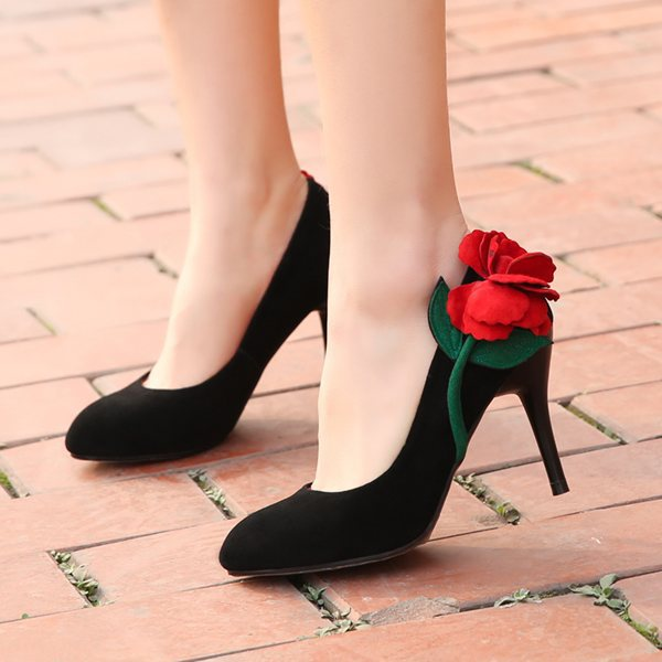New 2014 Spring autumn fashion shoes Sexy black genuine leather high heels women's shoes women Pumps(China (Mainland))