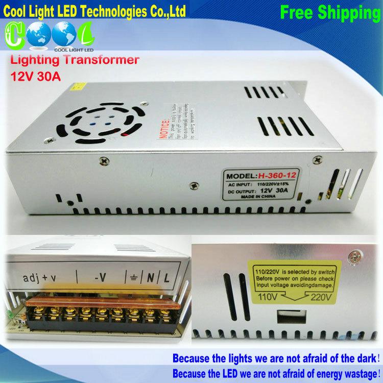 Трансформатор освещения Cool 12V 30A 360W 110V 220V safy 5050 5730