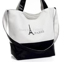 Fashion PARIS Iron tower canvas women messenger bags European women shoulder bag women handbag korss desigual bag free shipping