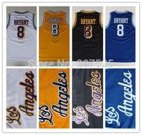 Los Angeles Kobe Bryant #8 Retro Jersey, New Material MESH Embroidery Logo Kobe Bryant Throwback Basketball Jersey