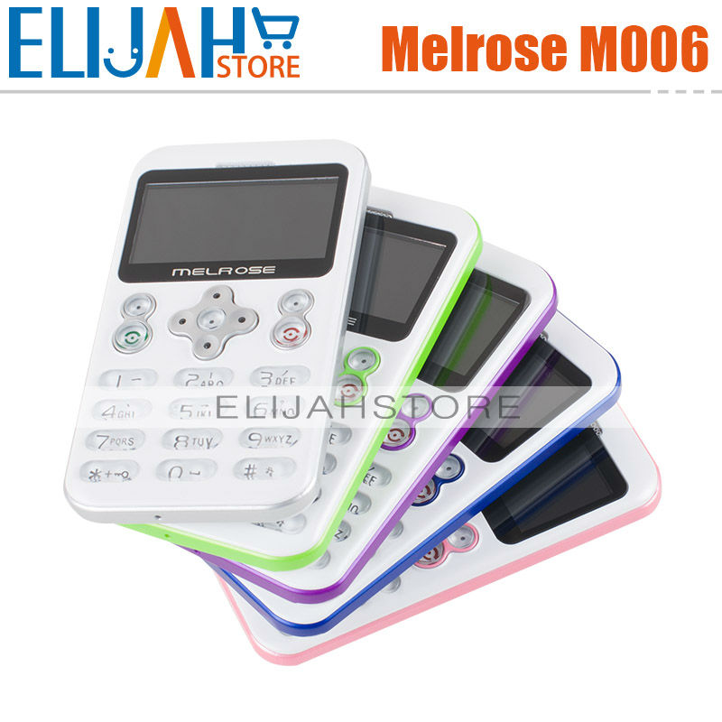 New Arrival thinnest Melrose M006 mini card mobile phones the smallest MP3 mini cellphone ultra-thin phone pocket size call(China (Mainland))