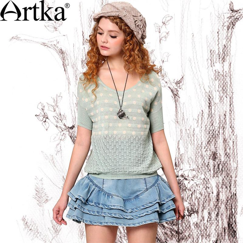http://i00.i.aliimg.com/wsphoto/v1/1821379468_1/Artka-Women-S-Spring-Summer-Casual-Solid-All-Match-Polka-Dot-Short-Sleeve-Jacquard-Flower-Cutout.jpg