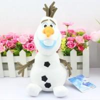 2014 New Arrival 10pcs/set 10inch 25cm Cartoon Movie Princess elsa Olaf Plush Toys snowman Olaf plush