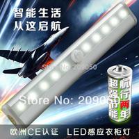 Wireless Human Motion Detector Sensor Infrared PIR 10-LED Night Light Lamp For Cabinet Drawer Closet Corridor