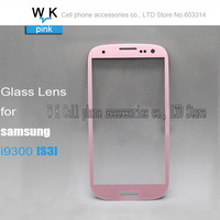Front Screen Glass Lens  pink colour for Samsung Galaxy S3 i9300 Free shipping