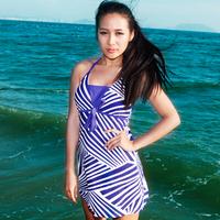 Spa plus size plus size one-piece swimwear dress nylon swimwear female swimsuits
