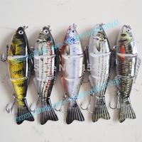5pcs/lot 2014 best popular lure of fishing swim bait  4 section lure hard lure free shipping