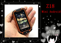 Mini Android phone Z18 Tri-proof cell phone Multi-Touch Screen Z18 Mini phone MTK6572 Dual core/ Android 4.0 phone free ship