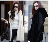 2014 new waistcoat imitation fur vest. Imitation fur in long vest vest Y1P0