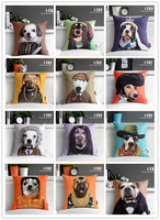 4pcs/set rustic personalized dog cartoon velvet cushion cover 43*43cm