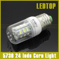5pcs Cree Chip G9 E27 E14 led smd 5730 9w 24 leds Corn Bulb Light LED Lamp 220V white warm white waterproof