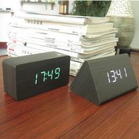 White Led Alarm clock, electronic & Battery/usb power/luminova display home decor clocks,Temperature voice Led digital clock