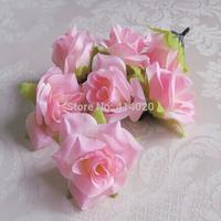 2014 Time-limited 100pcs/lot 6cm Diameter Flower Head Simulation Flowers Silk Artificial Wedding Decoration Party Home Decor