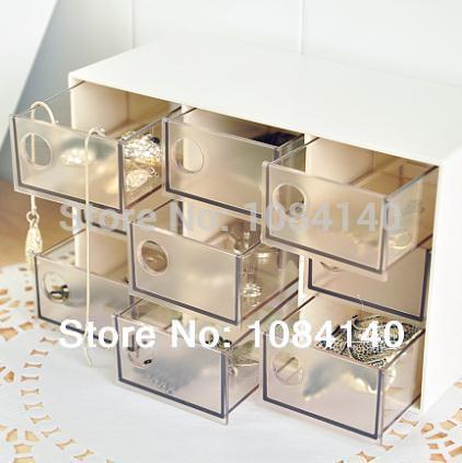 YoHere Houseware Storage box organizer Tools Stylish Simplicity, Nine Grid Drawer, Plastic Storage Box, Stationery Jewelry Box(China (Mainland))