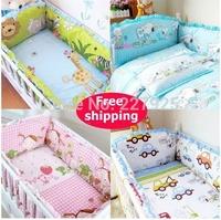 Настройка кровать вокруг демонтажа кусок постельных набор верхней одежды, детские бампера верхняя одежда, хлопок мультфильм Медведь синий детского постельного белья набор