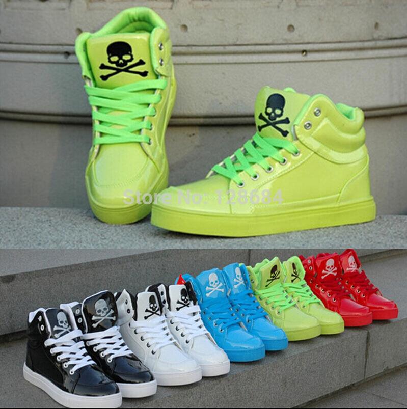 mode chaud 2014 tous blanc chaussures pour hommes de haute chaussures femmes chaussures de skate amoureux pour aider à faible chaussures de sport