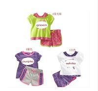 Free shipping! 2014 new. (T-shirt + short ). Children's cartoon suits.clothing set,girls set,girls suit,children's clothing