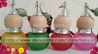 Free shipping 10pcs/setcar perfume decoration Gourd perfume pendant car perfume gourd bottle wit beech wood cap without perfume