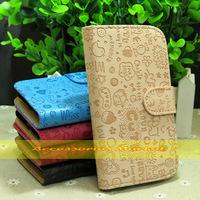 1 Pcs Newest Cute Pretty  Loves Girl Flip PU Leather Case For HTC Desire 600 Dual SIM 606w