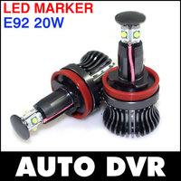 2Pcs/Set WHITE H8 20W ANGEL EYES light LED Cree For BMW E63 E64 E87 E82 E90 E92 E93 E70 E71.Free shipping