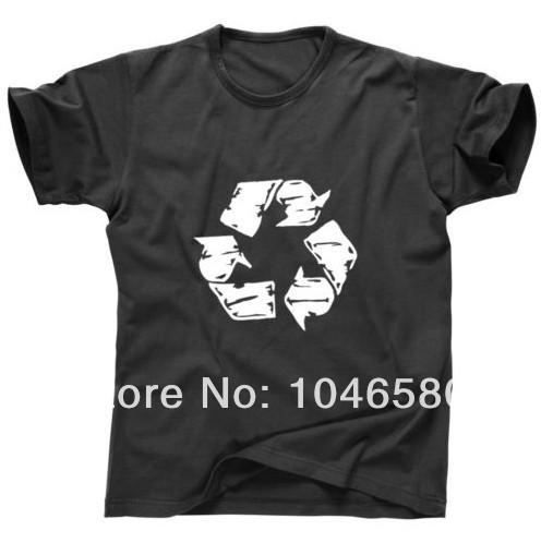 new 2014 design men t shirt UOMO BIG BANG THEORY BAZINGA SHELDON RECYCLE RECYCLING - TAGLIE T-shirt casual college tshirt(China (Mainland))