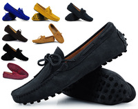 Mens Summer Genuine Leather Suede Breathable Moccasins Driving Shoes Loafer Shoes 8 Colors xx114 sapatos masculinos