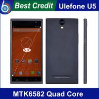 "In stock !Star Ulefone U5 Mobile Phone 5.5"" IPS QHD Screen MTK6582m Quad Core 1.3GHz 4GB Rom 5.0MP Camera Dual Sim"