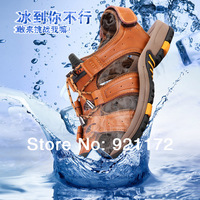 Summer 2014 new men boot male genuine leather breathable hole shoes men's sandals outdoor sports Adult Shoes SH8282