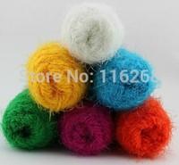 fabric New Zealand lamb fluff phoenix tail fluff fiber scarf line yarn for knitting feature hand-knitted Wool yarn 750g /lot