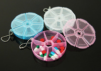 1 PCS plastic portable 7 kit storage box transparent pill case