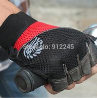 Hot !!! Summer Men's Half-finger Gloves Outdoor Fitness Riding Gloves Men Mesh Gloves Soft Flexible Breathable FREE SHIPPING