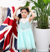 Retail girls dreses,Elsa dress New 2015 girls prince dresses for summer party Baby & Kids clothes, girls clothing