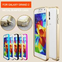 Newest Luxury Ultra-thin Aluminium Metal Frame Case for Samsung G7106 G7102 G7108 Galaxy Grand 2 Metal Frame Phone Case