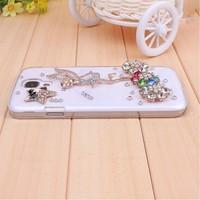 For Samsung Galaxy S 4 IV i9500 3D Angle Rhinestone Diamond Bling Cover Case For Samsung Galaxy S 4 IV i9500