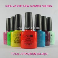 Free Shipping! New arrival 79 Fashion colors CND Shellac Soak off UV LED Nail Gel Polish 12pcs/lot
