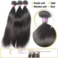 Malaysian Virgin Hair Straight 3Pcs Available HJ Hair Prodcuts Natural Color Shipping Free