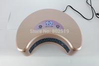 Professional Nail Art 2014 New Hot US EU Plug 110V 220V Voltage UV Gel Nail Dryer 18W Moon Shape UV LED lamp